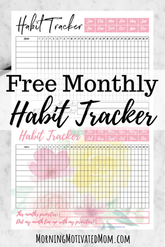 Free Monthly Habit Tracker