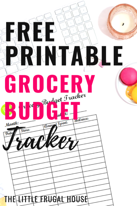 Free Printable Grocery Budget Tracker