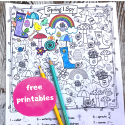 Free Printable Spring I Spy Coloring Pages