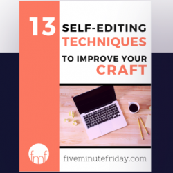 Free Self-Editing Checklist for Writers