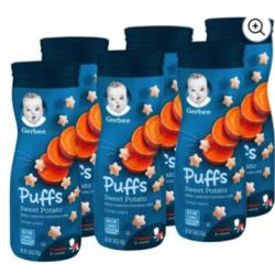 Gerber Sweet Potato Puffs Six Pack