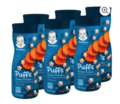 Gerber Sweet Potato Puffs Six Pack