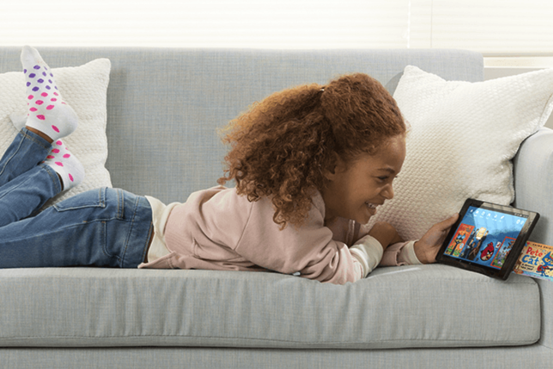 Child using Amazon FreeTime Unlimited