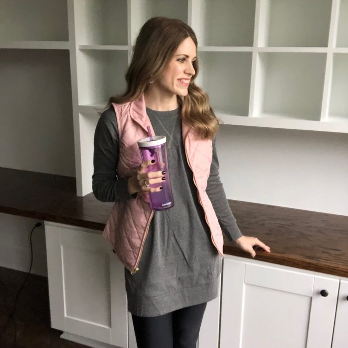 a photo of Crystal Paine with a Contigo cup