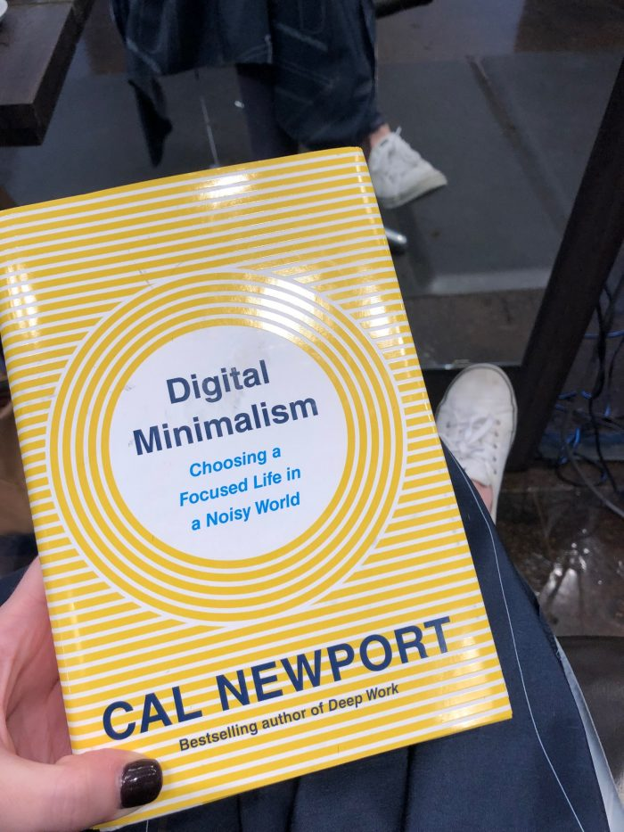 a photo of Digital Minimalism by Cal Newport