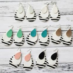 Layered Stripe Earrings