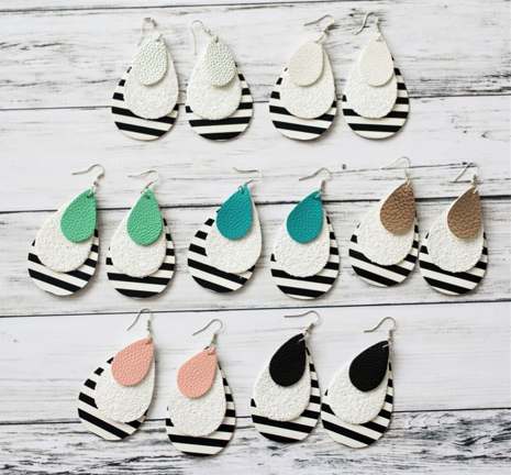 Layered Stripe Earrings