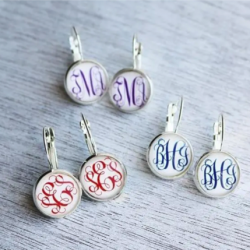 Monogrammed Classic Earrings