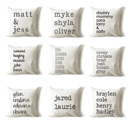 Custom Name Pillow Covers