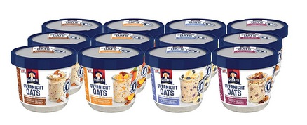 Quaker Overnight Oats, Variety Pack