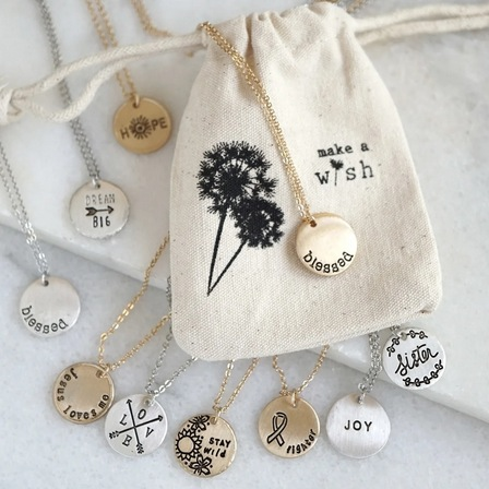 Stamped Gift Necklace