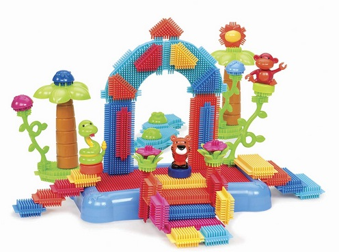 Bristle Blocks by Battat – The Official Bristle Blocks – 58 Pieces in a Bucket