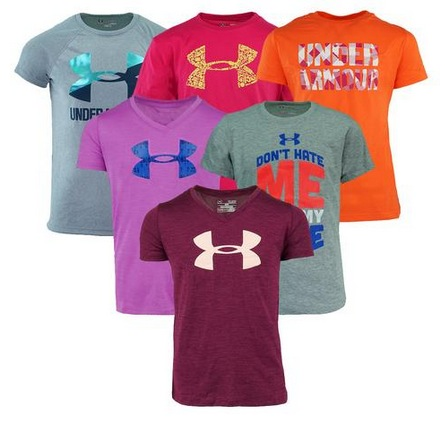 Under Armour Girl's Graphic Mystery T-Shirt 5-Pack