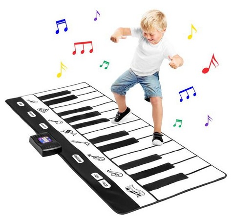 Giant Piano Keyboard Playmat w/ 8 Instrument Settings