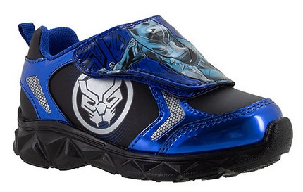 Black Panther Light-up Athletic Boys Hook & Loop Sneakers