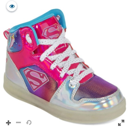 Warner Bros Supergirl Light-Up Girls Sneakers