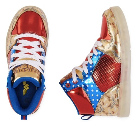 Warner Bros Wonder Woman Light-Up Girls Sneakers
