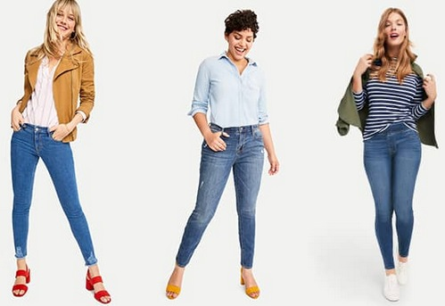 Trial with jeans for fashion