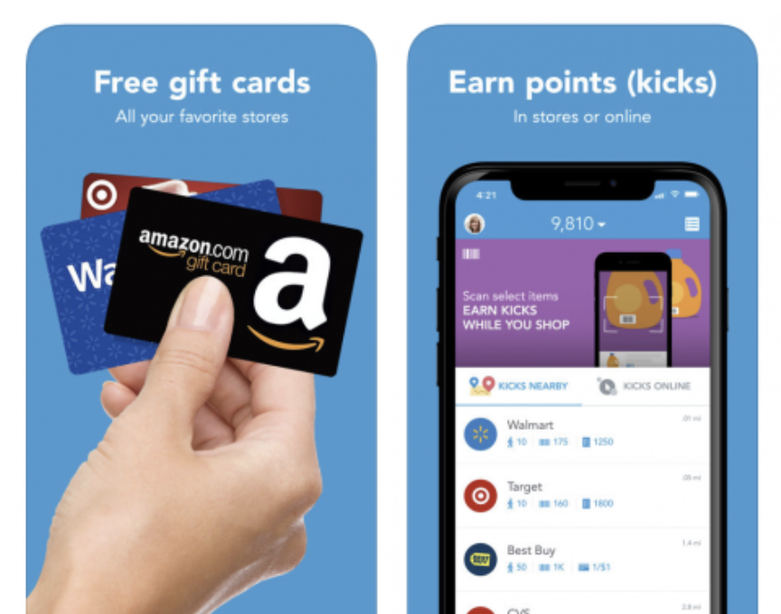 Earn Gift Cards with Shopkick + FREE $5 Gift Card!!