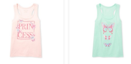 Girls' Racerback Tops