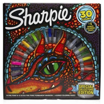 Sharpie 30-Count Marker and Coloring Page Set