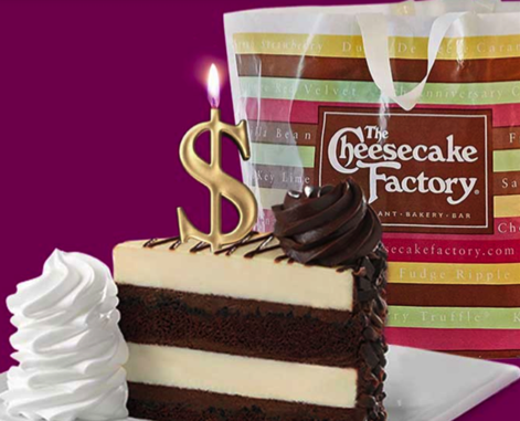 The Cheesecake Factory Reward