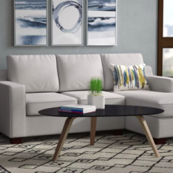 Wayfair sofa in living room