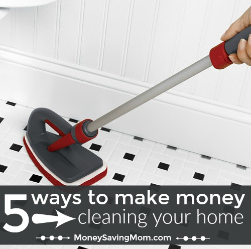 Make money from home by cleaning and organizing