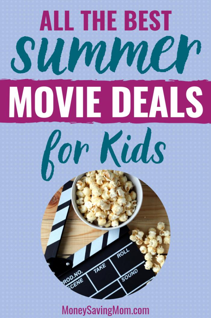 Ofertas de películas de verano para niños