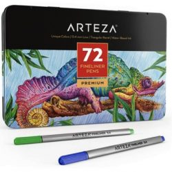 ARTEZA Fineliners Fine Point Pens, Set of 72 Fine Tip Markers
