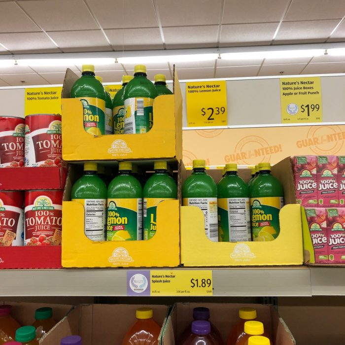 lemon juice at Aldi