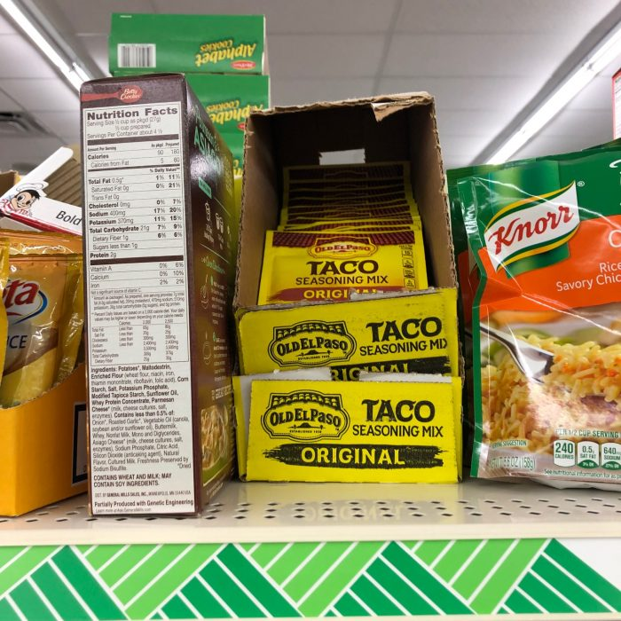 taco seasoning at Dollar Tree