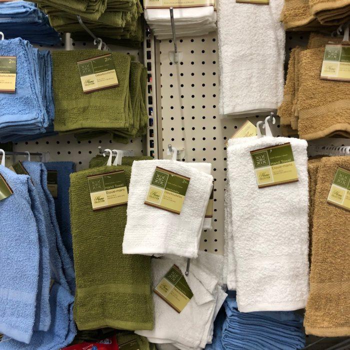 towels at Dollar tree