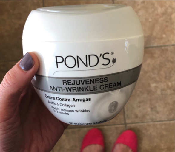 close-up of Pond's Anti-Wrinkle Cream