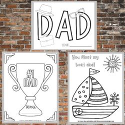 Printable Father's Day Coloring Pages