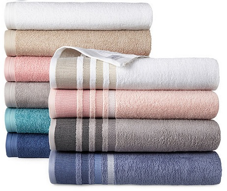 Home Expressions Solid or Stripe Bath Towels