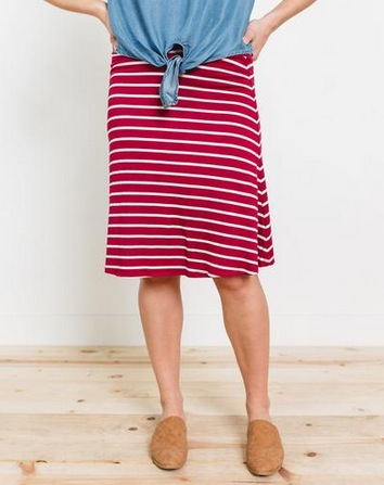 Nico Horizontal Stripe Knit Skirt