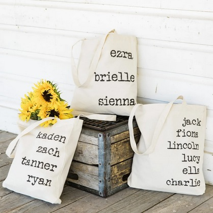 Personalized Names Tote Bag