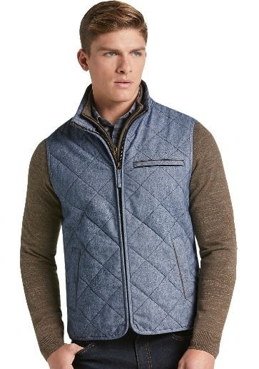 Tailored Fit Donegal Diamond Quilted Vest