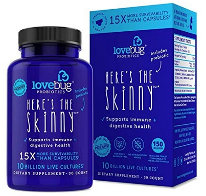 LoveBug Probiotics Digestive Health Supplement 30-Count Bottle Just $12 Shipped on Amazon
