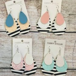 Stripe Teardrop Earring