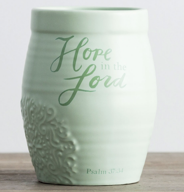 Hope in the Lord Ceramic Vase