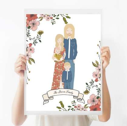 Large Custom Family Portraits