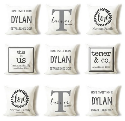 Custom Farmhouse Pillow Covers