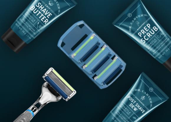 Stylized Dollar Shave Club Starter Set