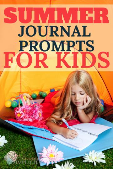 Summer Journal Prompts for Kids