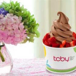 TCBY yogurt and flowers
