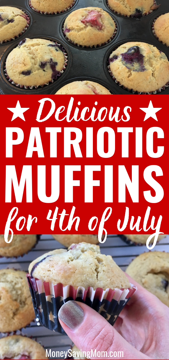 Patriotic Muffins for 4th of July
