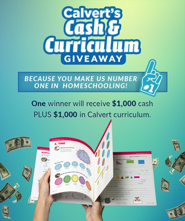 Calvert Cash and Curriculum Giveaway