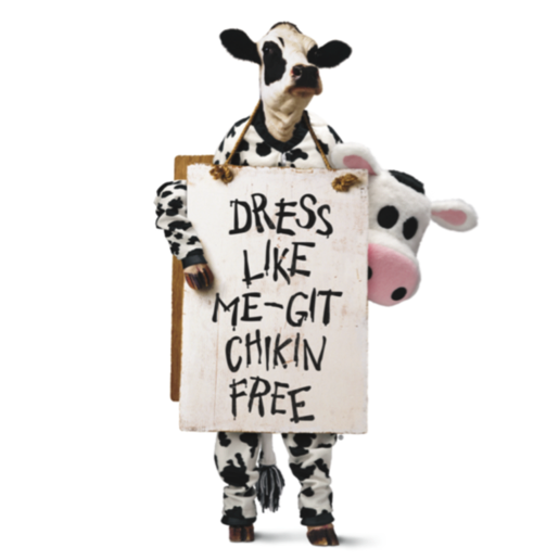 Chick-fil-A Dress Like A Cow Day